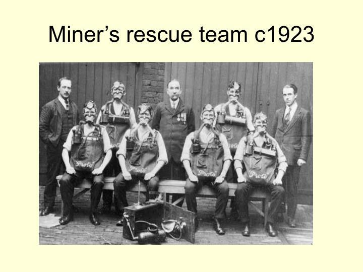 Miner's rescue team c1923