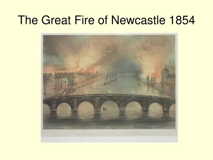The Great Fire of Newcastle 1854
