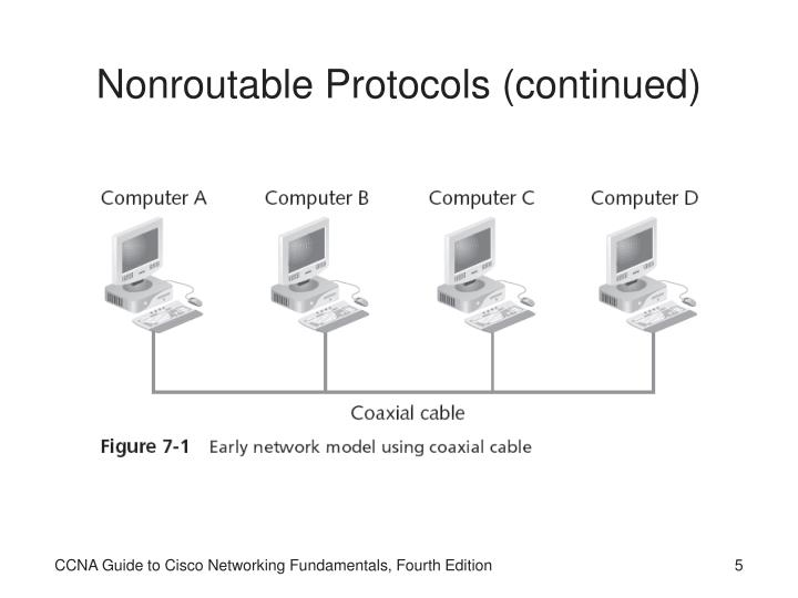 Nonroutable Protocols (continued)