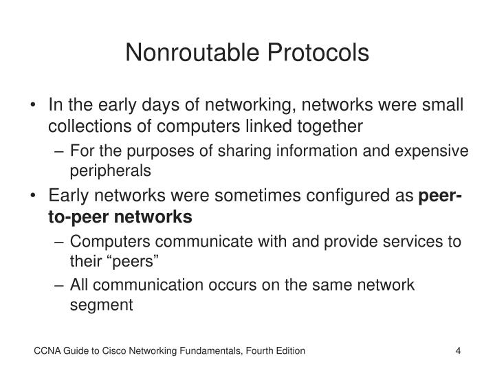 Nonroutable Protocols