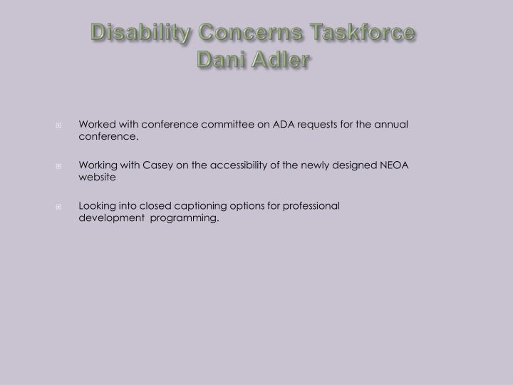 Disability Concerns Taskforce