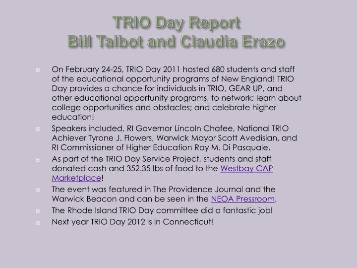 TRIO Day Report
