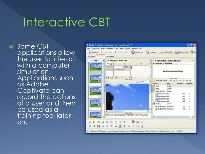 Interactive CBT