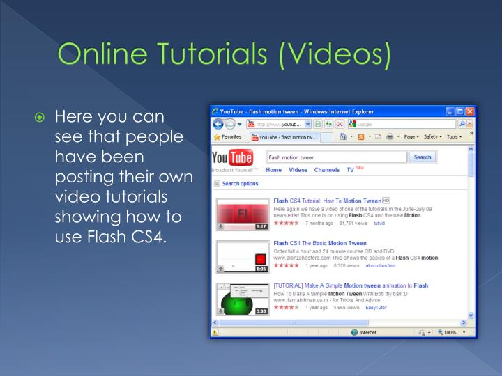 Online Tutorials (Videos)