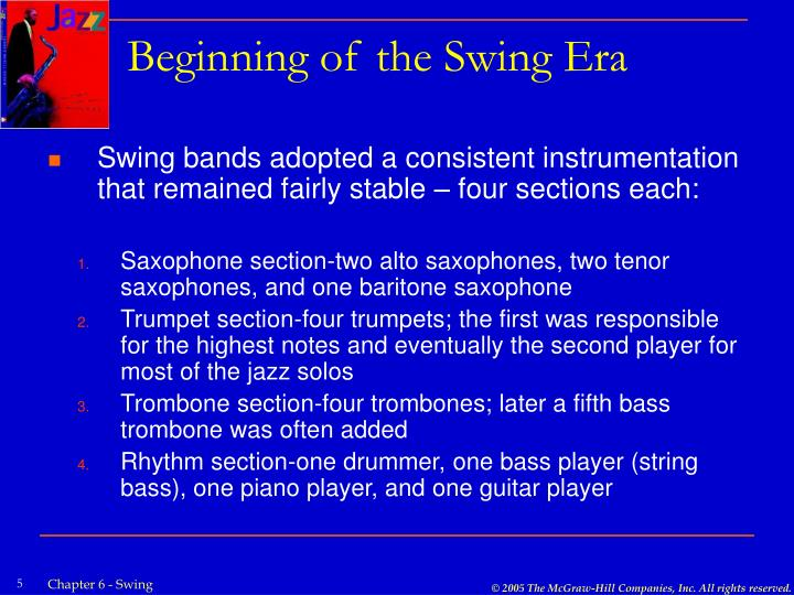 Beginning of the Swing Era