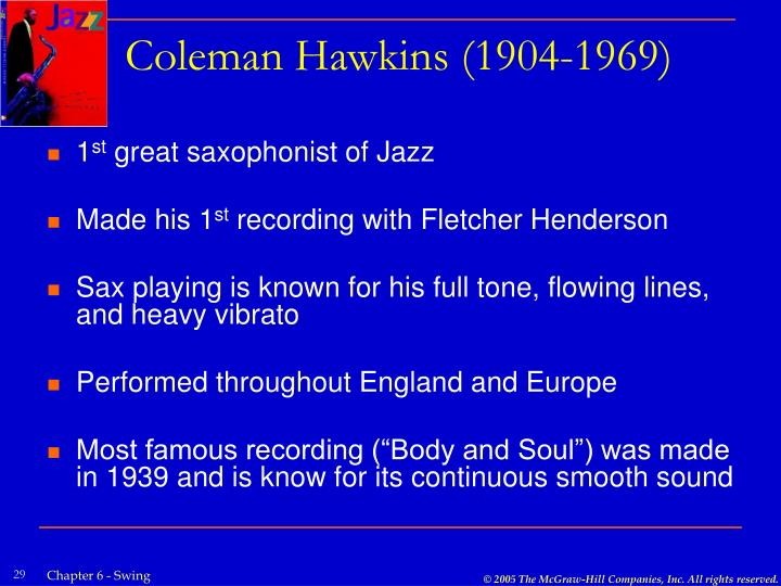 Coleman Hawkins (1904-1969)