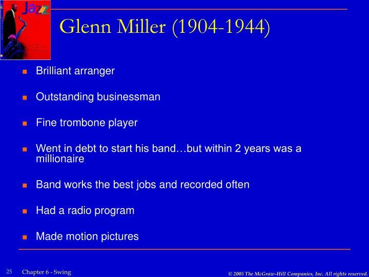 Glenn Miller (1904-1944)