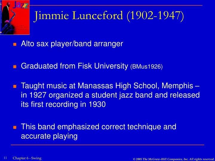 Jimmie Lunceford (1902-1947)