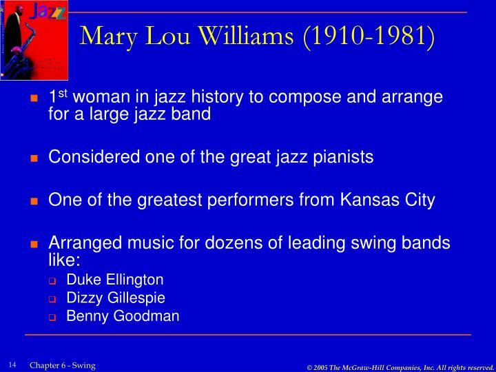 Mary Lou Williams (1910-1981)