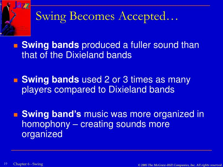 Swing Becomes Accepted…