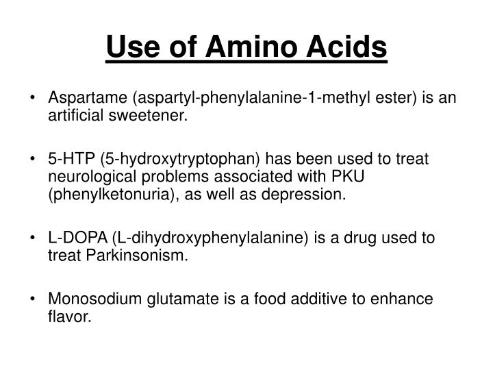 Use of Amino Acids