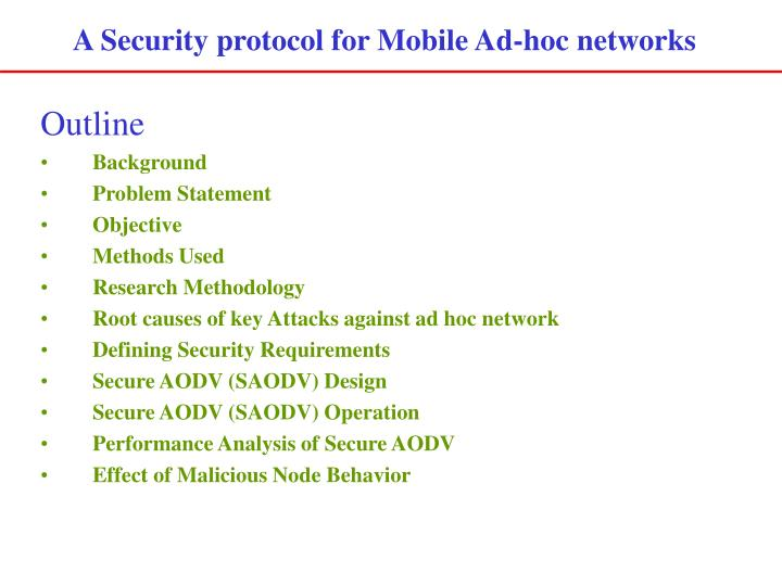 A Security protocol for Mobile Ad-hoc networks