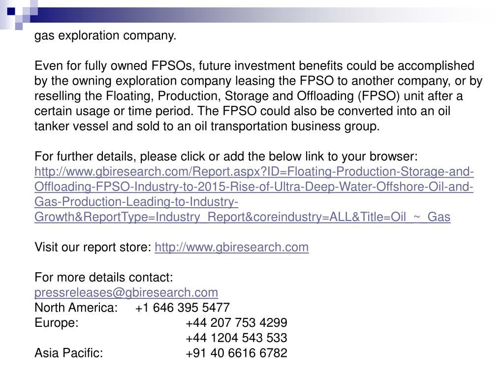 gas exploration company.