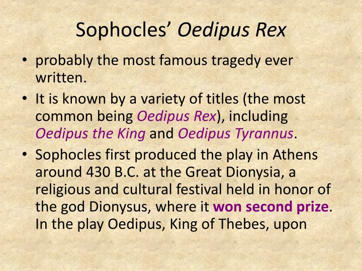 oedipus rex and aristotle Oedipus rex as the ideal tragic hero of aristotle is an article from the classical weekly, volume 6 view more articles from the classical weeklyview this.