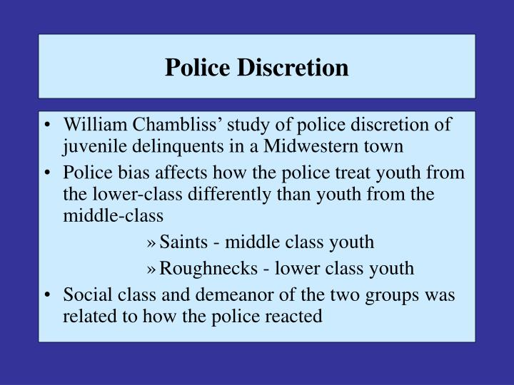 police discretion case study Differences in exposure to the police making and discretion prior to a traffic stop the national institute of justice, grant number.