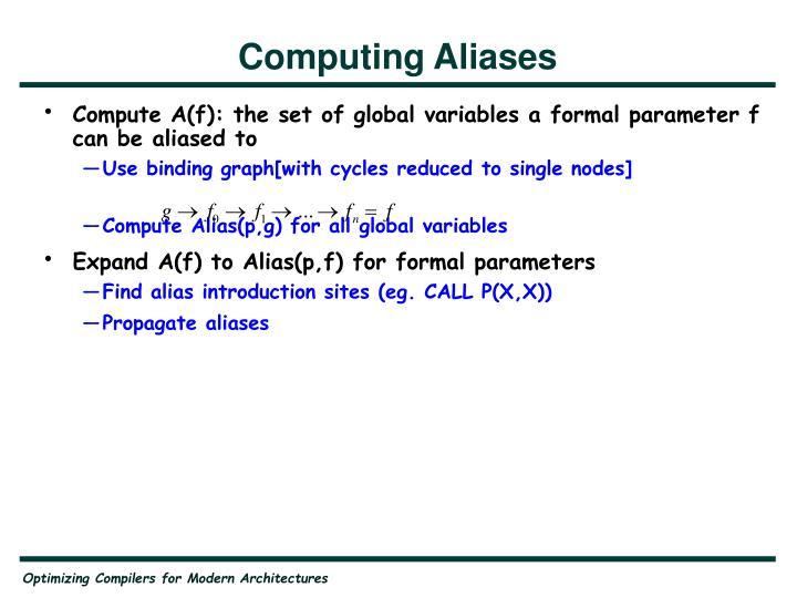Computing Aliases