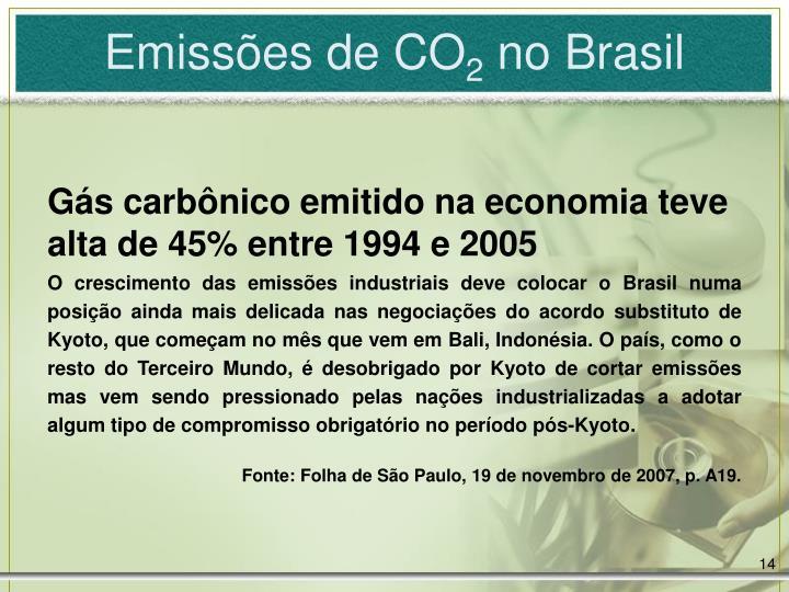 Emissões de CO