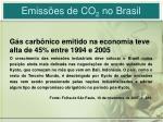 emiss es de co 2 no brasil