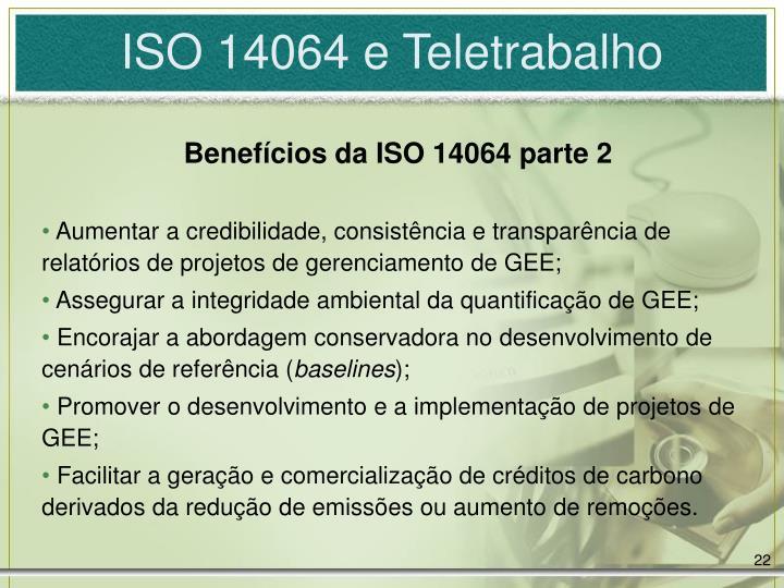 ISO 14064 e Teletrabalho