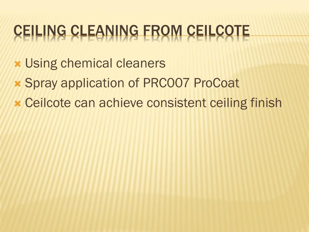 Using chemical cleaners