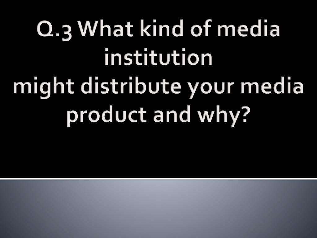 Q.3 What kind of media institution