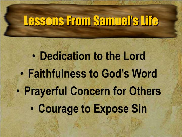 Lessons From Samuel's Life