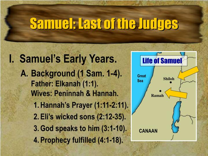 Samuel last of the judges