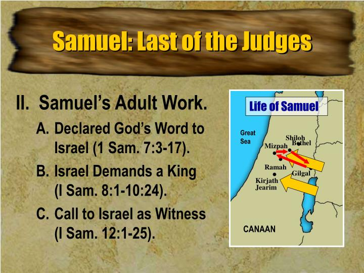 Samuel: Last of the Judges