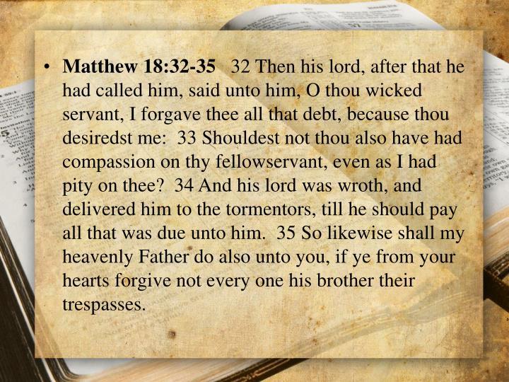 Matthew 18:32-35
