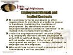 employment manuals and implied contracts