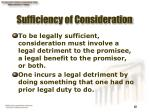 sufficiency of consideration