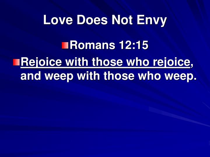 Love Does Not Envy
