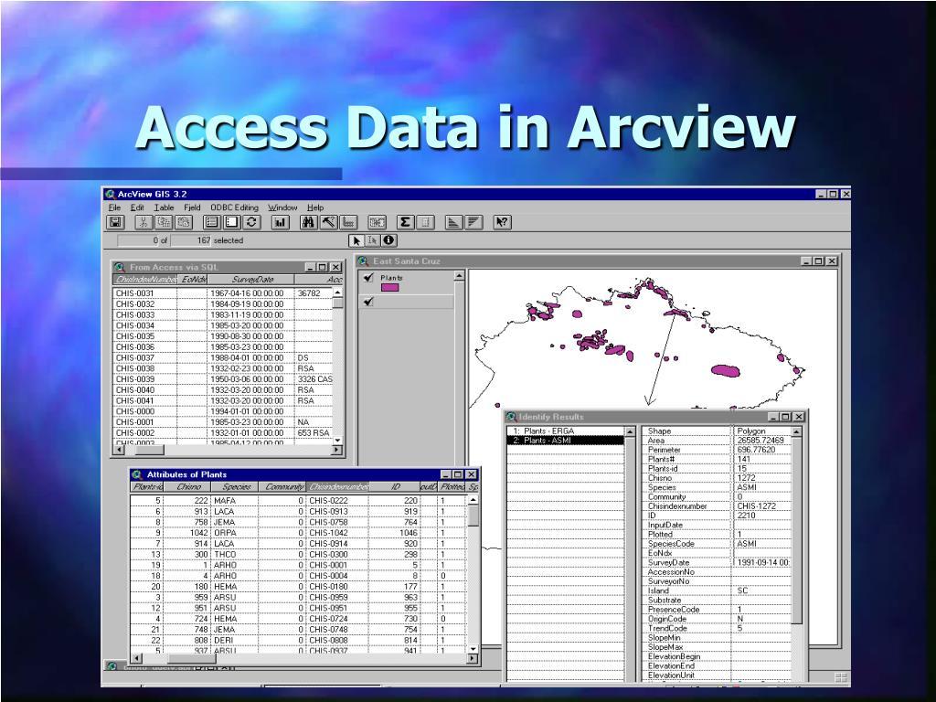 Access Data in Arcview