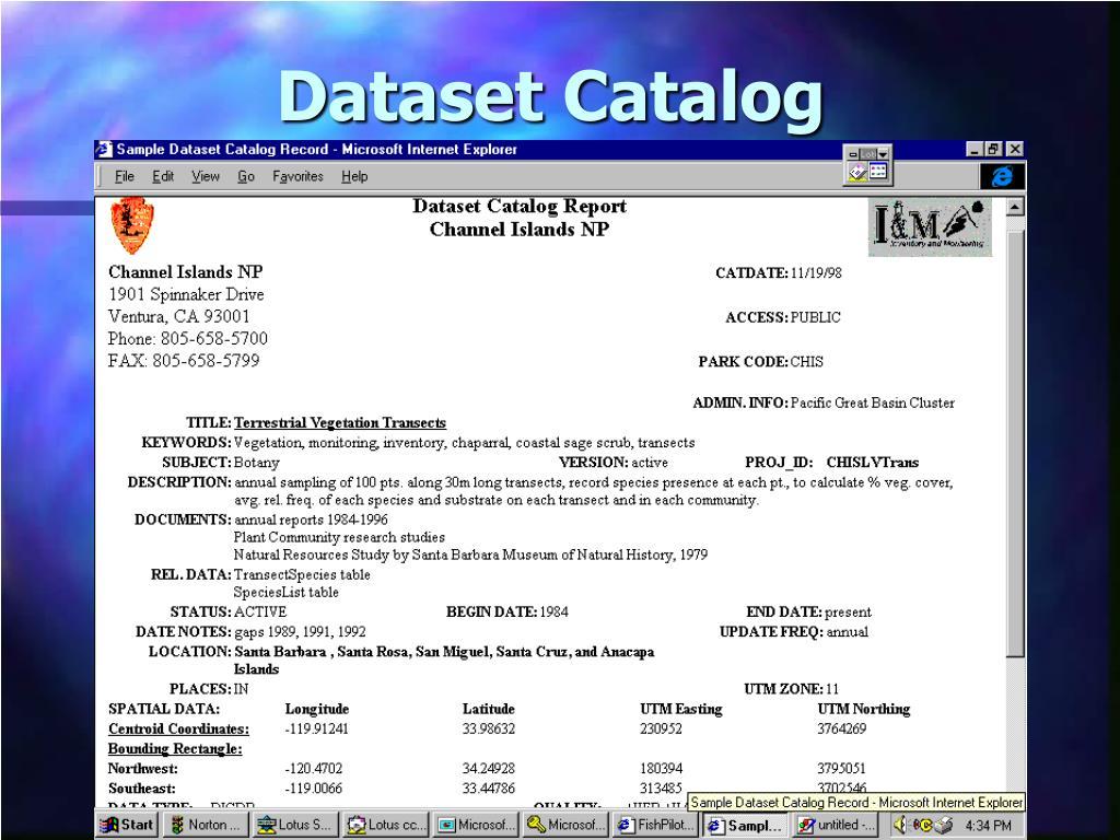Dataset Catalog