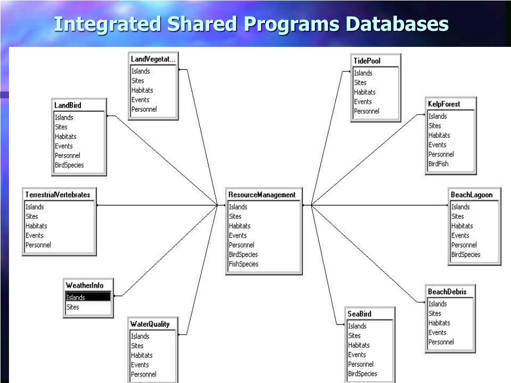 Integrated Shared Programs Databases