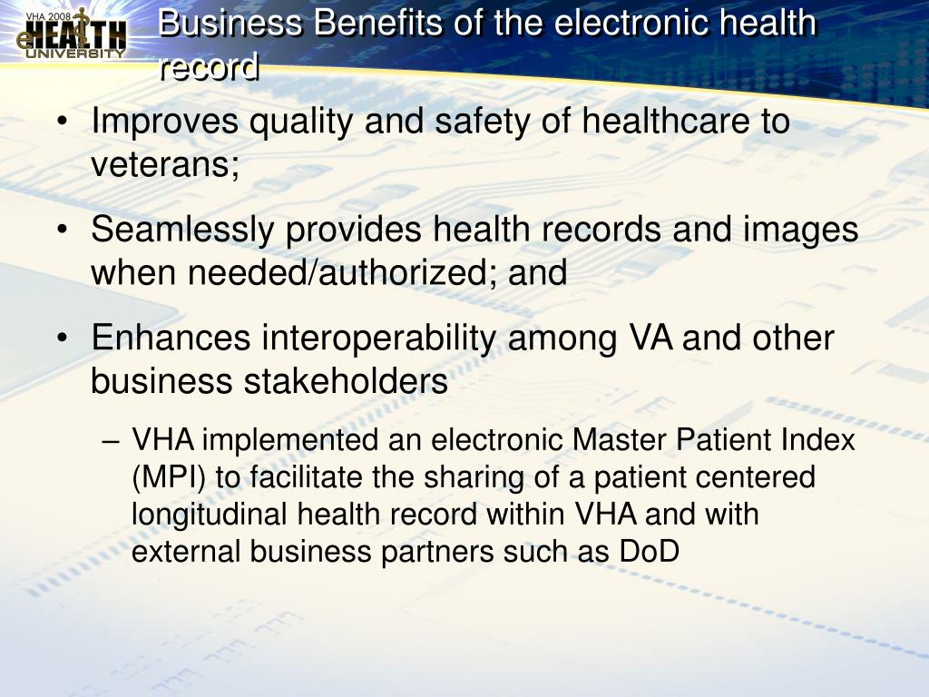 Business Benefits of the electronic health record