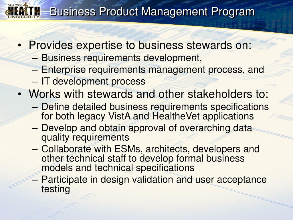 Business Product Management Program
