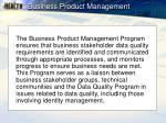 business product management