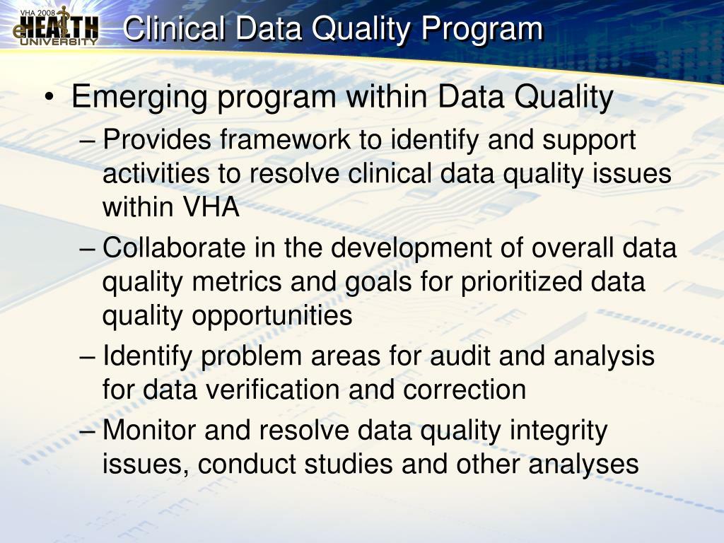 Clinical Data Quality Program