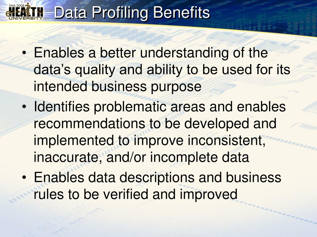 Data Profiling Benefits