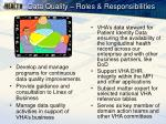 data quality roles responsibilities