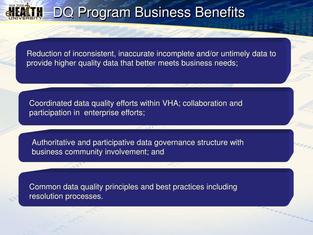 DQ Program Business Benefits