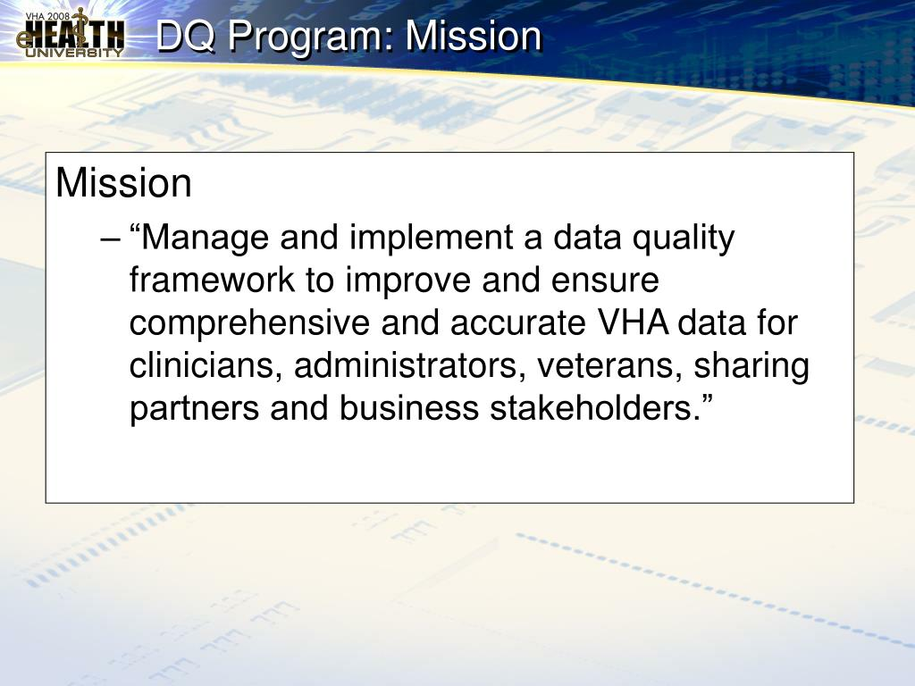 DQ Program: Mission