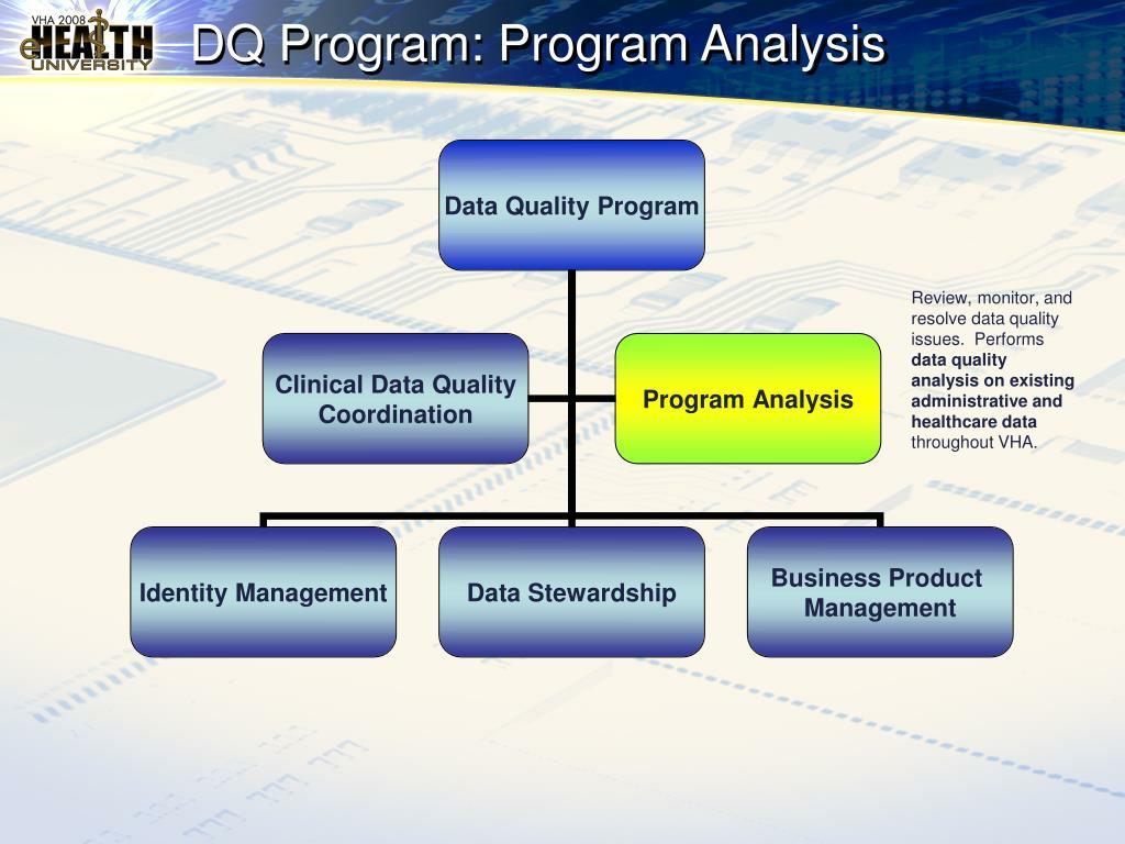 DQ Program: Program Analysis