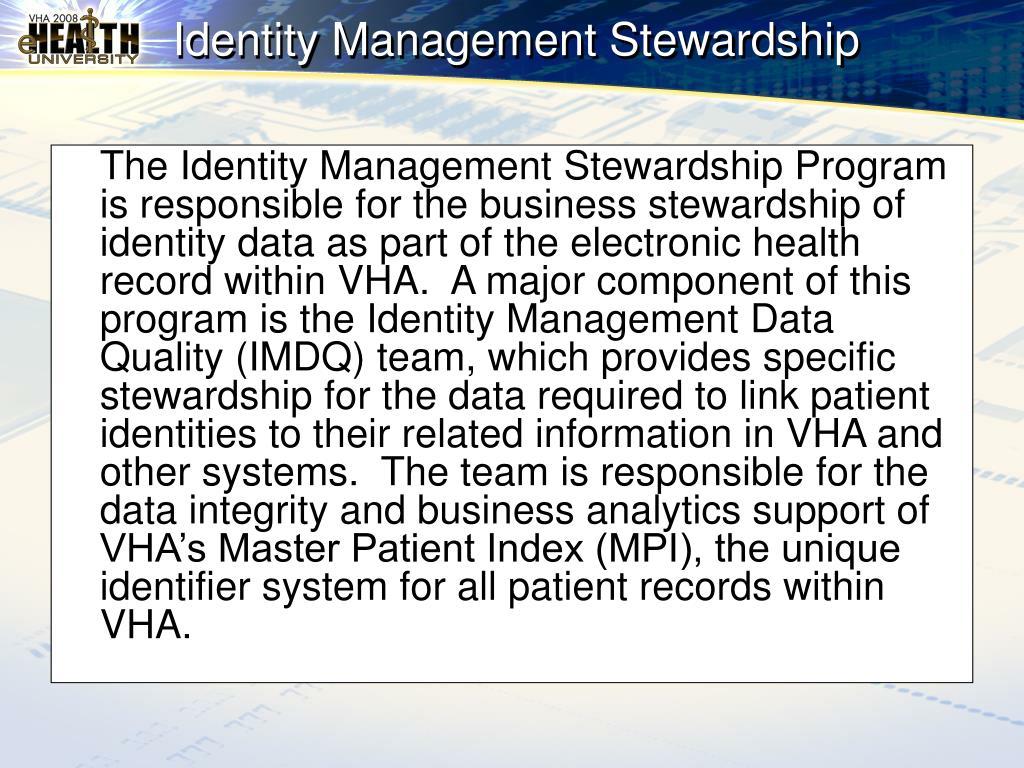 Identity Management Stewardship