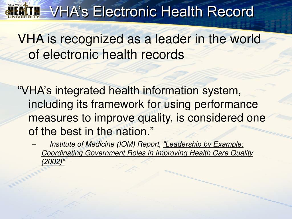VHA's Electronic Health Record