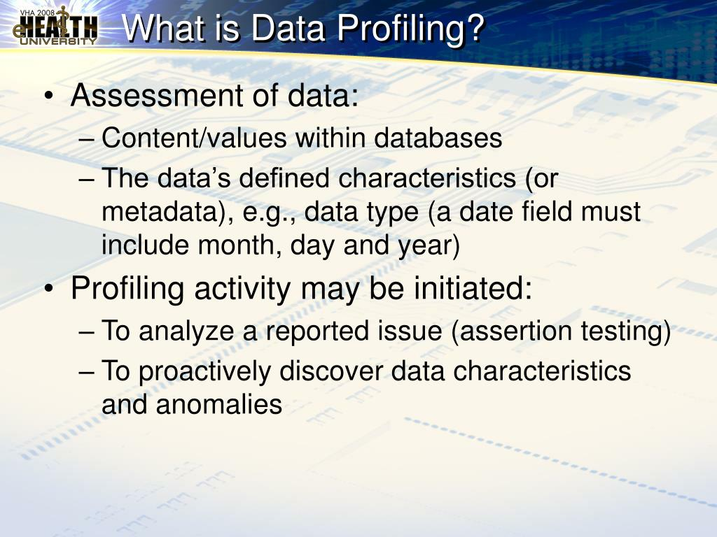 What is Data Profiling?
