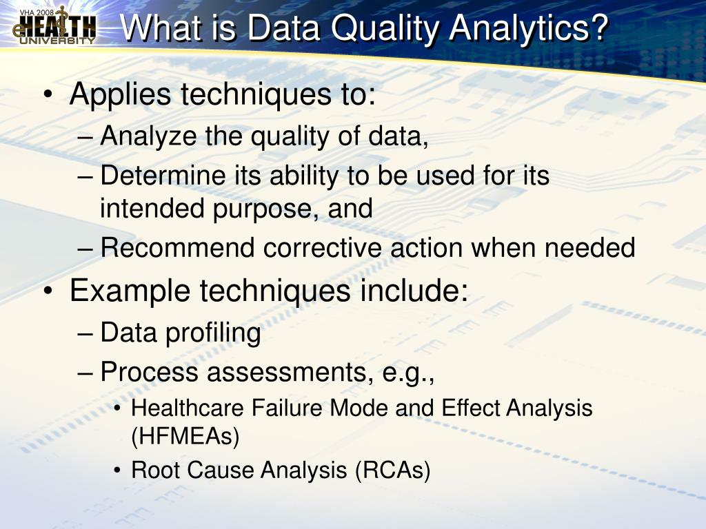 What is Data Quality Analytics?