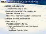 what is data quality analytics