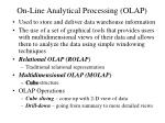 on line analytical processing olap